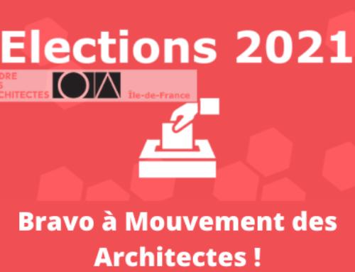Résultats des Elections Ordinales CROAIF : Félicitations au Mouvement des Architectes