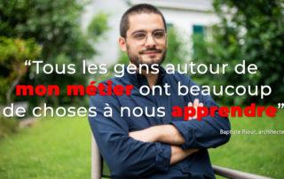 Interview vidéo Baptiste architecte