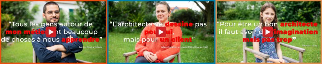 illustration interview vidéo métier architecte